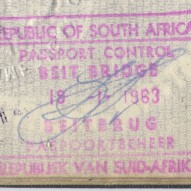 1963 London to Cape Town January 19th